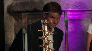 Rafa Nadal fue una de las estrellas de la noche en la inauguración del Mutua Madrid Open de Tenis.