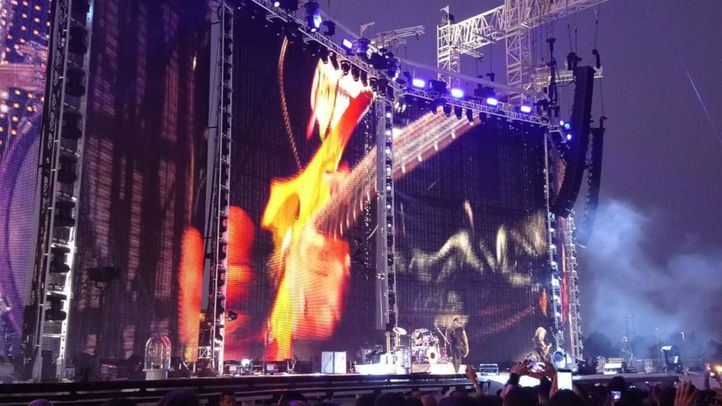 Metallica en su concierto en Madrid
