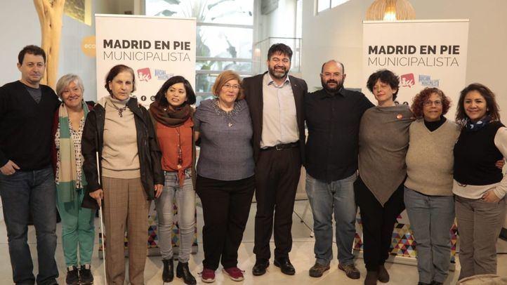 Candidatura de Madrid en Pie Municipalista, liderada por Carlos Sánchez Mato, Rommy Arce y Pablo Carmona.