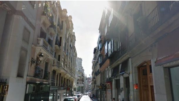 Calle del Caballero de Gracia, donde se produjo el crimen.