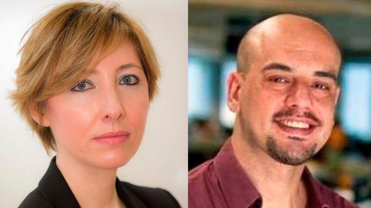 Los periodistas María Cano y Carlos Hidalgo