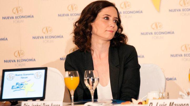Isabel Díaz Ayuso en el desayuno de Nueva Economía Fórum.