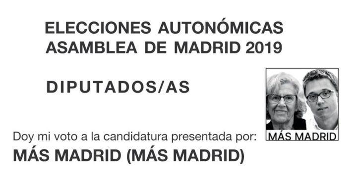 Errejón y Carmena, como Iglesias en 2014: sus caras irán en las papeletas de Más Madrid