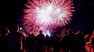 Fuegos artificiales en las fiestas de Rivas