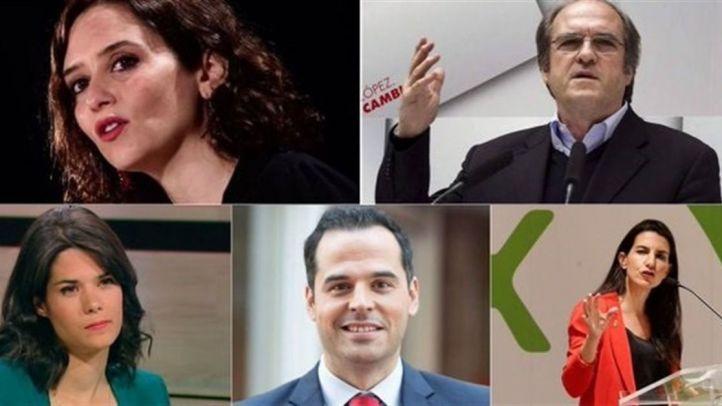 Los candidatos a la Comunidad (excepto Errejón) debatirán en Telemadrid el 19 de mayo