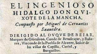 Portada de la primera edición de El Ingenioso Hidalgo Don Quijote de la Mancha