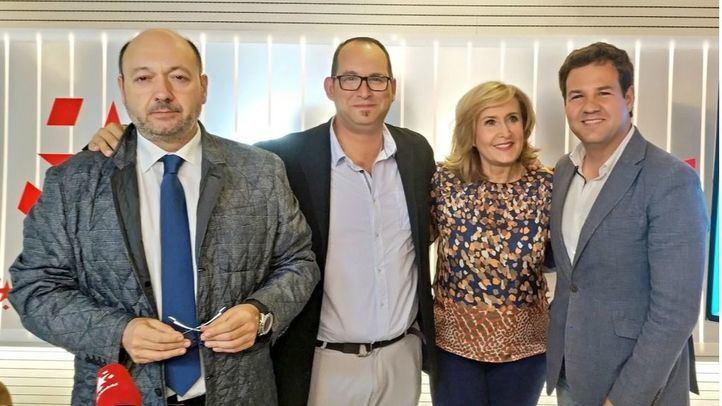 los alcaldes de Valdemoro y Las Rozas, Serafín Faraldos y José de la Uz en Com.Permiso