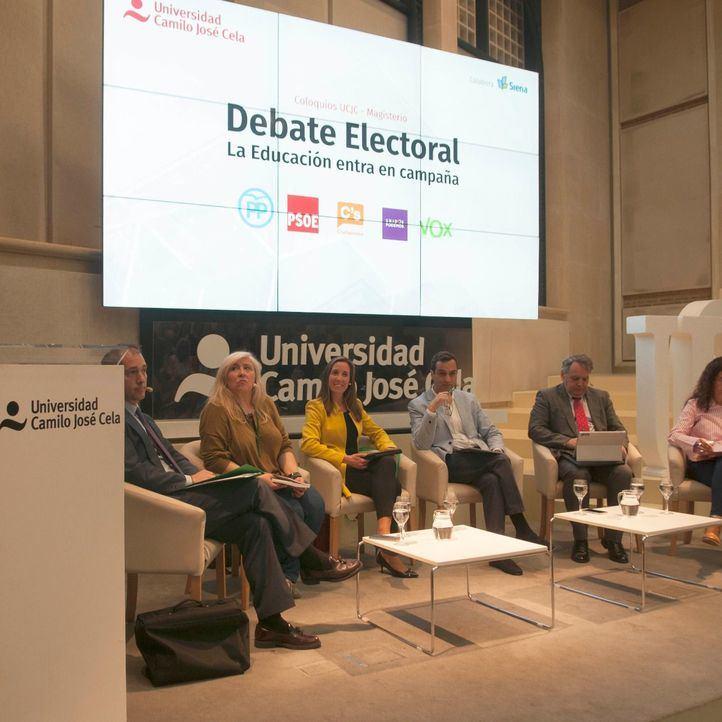 Debate electoral alternativo en la UCJC: el sistema educativo madrileño, a examen