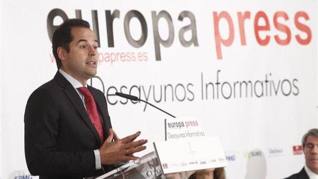 Ignacio Aguado, en los desayunos de Europa Press