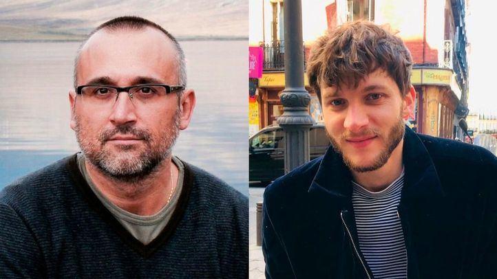 Los periodistas Ferrán Boiza (El Mundo) y Javier García (20 Minutos).