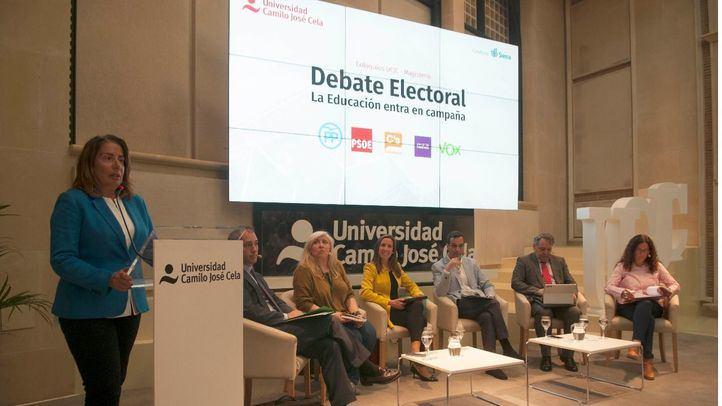 Debate electoral en la UCJC con representación de Vox, Ciudadanos,Podemos,PP y PSOE.