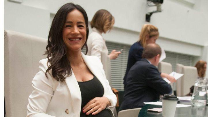 Begoña Villacís, la candidata de Cs a la alcaldía de Madrid, en el último pleno de la legislatura