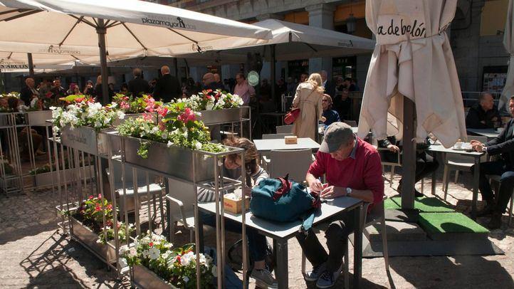 Las terrazas de Plaza Mayor estrenan mobiliario