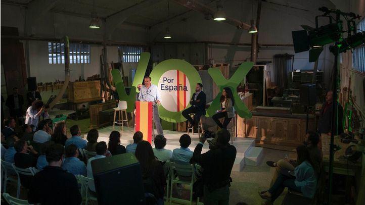 Presentación sorpresa de la campaña de Vox. a las municipales de Madrid y Autonomicas. Ortega y Rocío Monasterio con la asistencia de Abascal.
