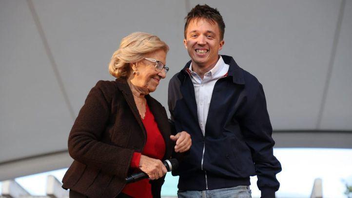 Manuela Carmena e Íñigo Errejón, en el arranque de campaña de Más Madrid.