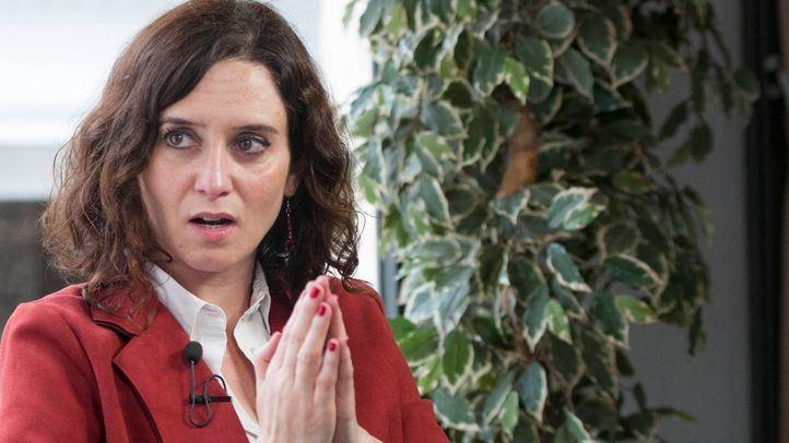Isabel Díaz Ayuso, durante su entrevista en Madridiario.