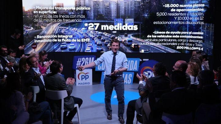 José Luis Martínez-Almeida, en la presentación de su programa político para el Ayuntamiento de Madrid.