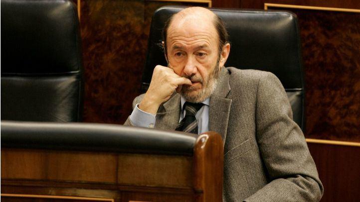 Alfredo Pérez Rubalcaba en el Congreso de los Diputados en una foto de archivo.