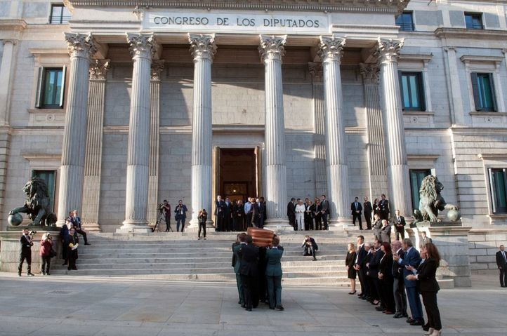 Despedida a Alfredo Pérez Rubalcaba en el Congreso de los Diputados.