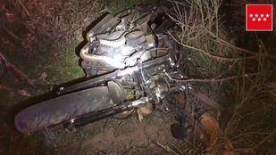 Fallece un hombre en Valdemorillo al salirse de la vía con su motocicleta