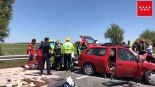 Accidente de coche en Pozuelo del Rey.