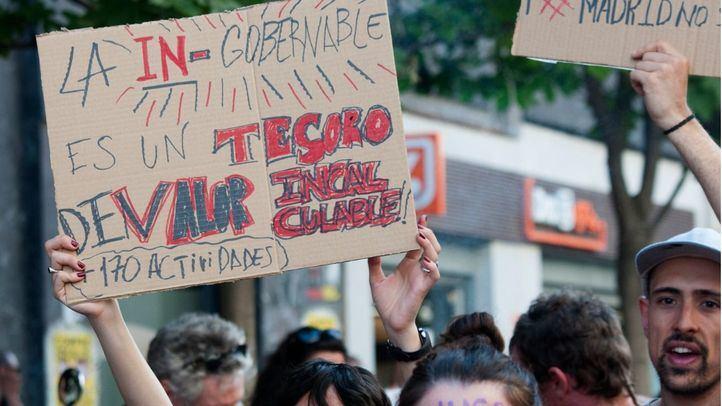 Más de 700 personas apoyan la okupación de La Ingobernable en una manifestación