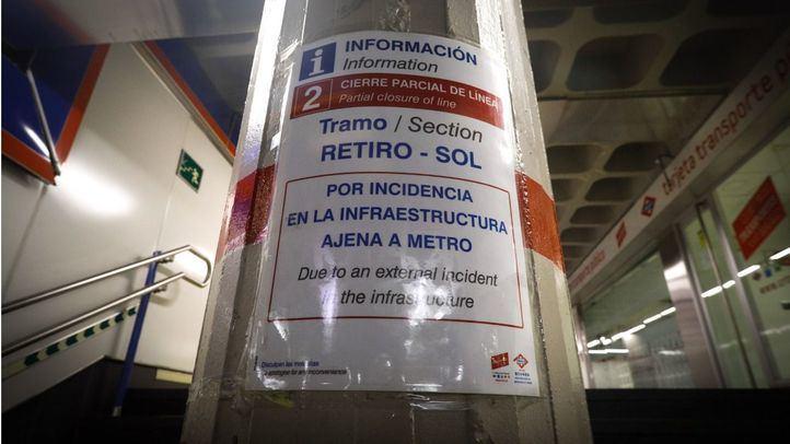 Metro vuelve a funcionar este lunes entre Ópera y Sol