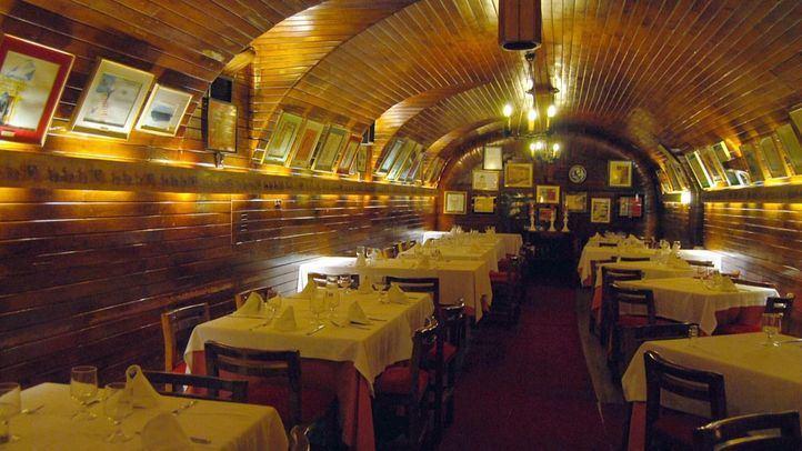 Comedor del sótano del Café Gijón.