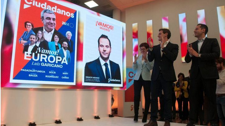 Ignacio Aguado junto a Albert Rivera el día de comienzo de la campaña electoral