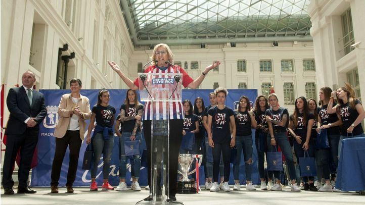 Madrid rinde homenaje a las campeonas de la Liga Iberdrola