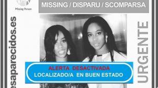 Las dos hermanas irlandesas desaparecidas.