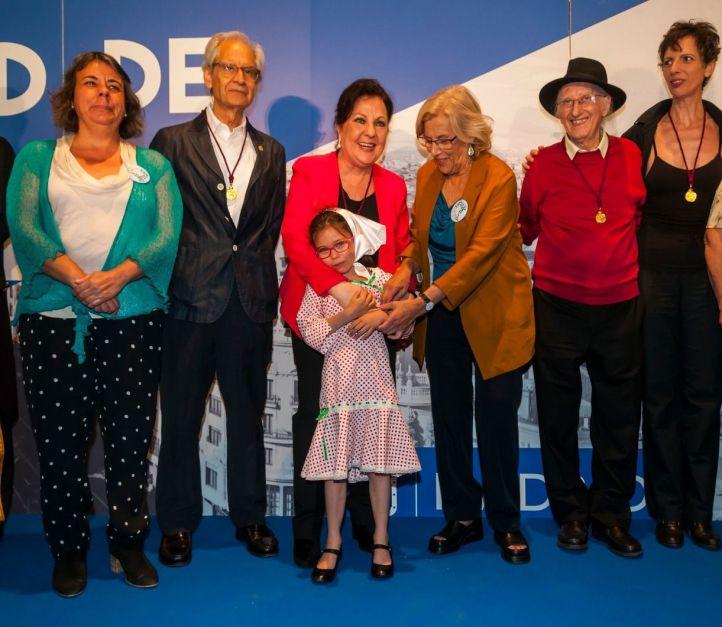 Los premiados con las Medallas de Oro de Madrid.