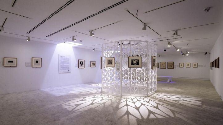 Sala interior con la exposición de Matisse.