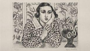 El blanco y negro del creativo grabador Matisse