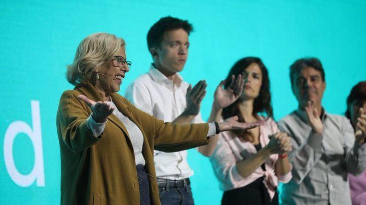 Carmena y Errejón enseñan músculo en un Madrid Arena que no llegan a llenar