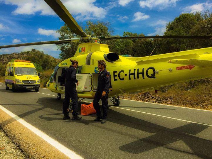 Herido grave tras ser arrollado por una retroexcavadora en Berzosa del Lozoya