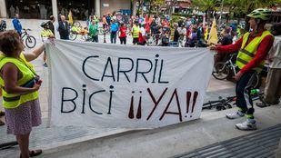 XIX Paseo de la Plataforma ciudadana BICILINEAL, en la Junta de Distrito de Ciudad Lineal.