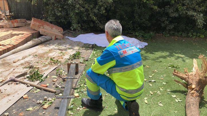 Muere un trabajador tras caerle un muro encima en Paracuellos