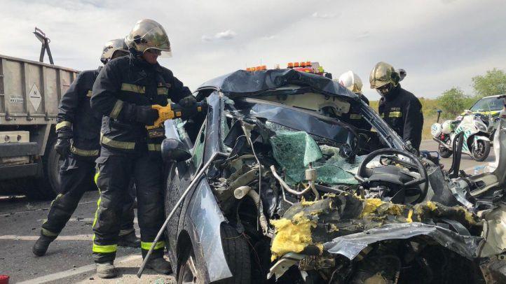 Fallece un hombre en un choque frontal en Mejorada