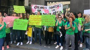 Huelga de los trabajadores del primer ciclo de Educación Infantil.