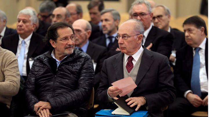 Rodrigo Rato, en una imagen de archivo, declarando en el juicio por la salida a Bolsa de Bankia