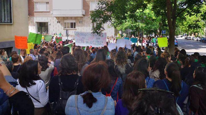 Huelga de los trabajadores del primer ciclo de Educación Infantil, este martes.