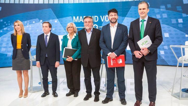 Debate electoral de los candidatos a la Alcaldía de Madrid en Telemadrid.
