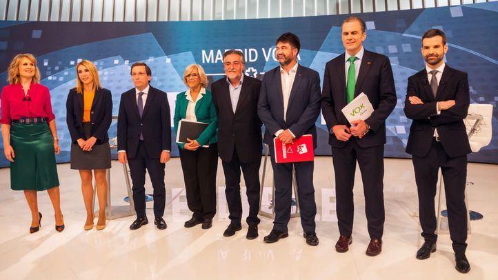 Debate de los candidatos a la Alcaldía de Madrid organizado por Telemadrid