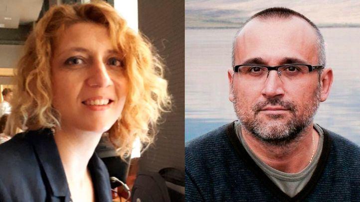 Los periodistas Nuria Platón (La Razón) y Ferrán Boiza (El Mundo).