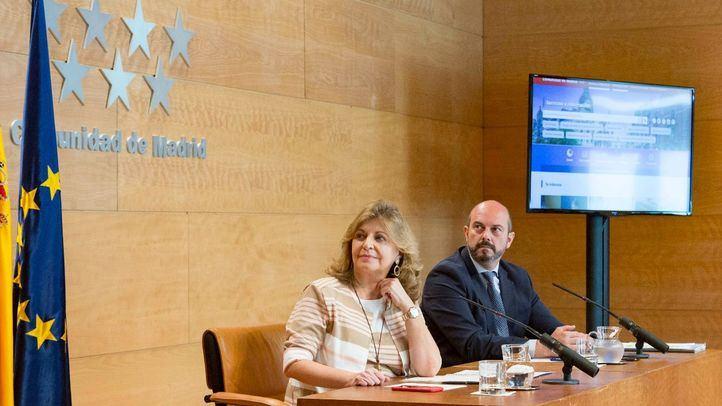 La consejera de Economía, Engracia Hidalgo, y el presidente Pedro Rollán, en una foto de archivo.