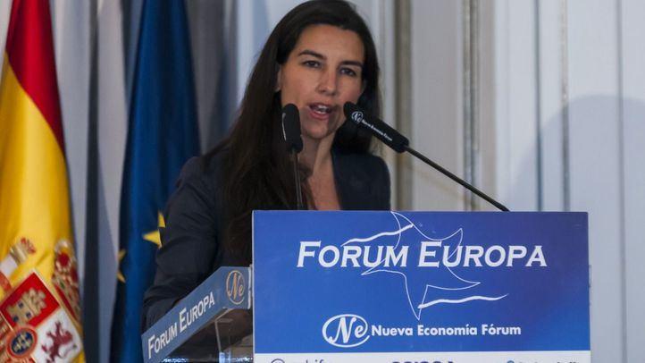 La candidata de Vox a la Presidencia de la Comunidad de Madrid, Rocío Monasterio, ha protagonizado este viernes un desayuno informativo en el que fue presentada por el presidente de su partido, Santiago Abascal.