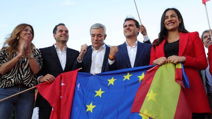 Acto de cierre de campaña electoral de Ciudadanos en el parque Alfredo Kraus.