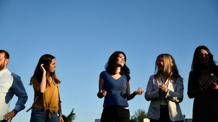 Isa Serra (Podemos) cierra la campaña del 26-M en el Parque de la Amistad de Villaverde Bajo