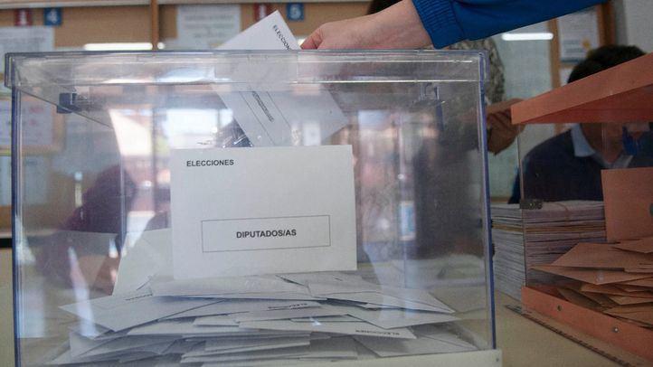 Urna de las pasadas elecciones del 28 de abril.
